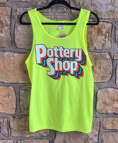 Pottery Shop Tank -Neon Yellow