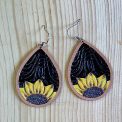 Bright Sunflower earrings