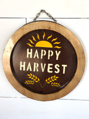 Fall Recycled Metal Signs