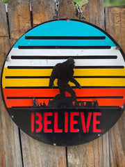 Believe - Metal sign