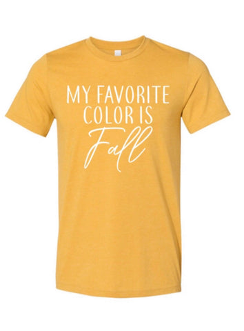 My favorite color is Fall - Mustard