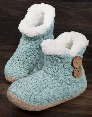 Cozy Slippers - Mint