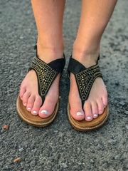 Summer Nights Sandals - Black