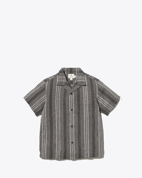 WASHI Striped Open Collar Shirt