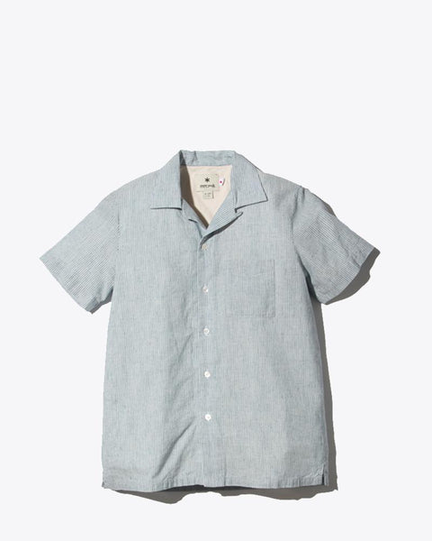 Cotton Linen Narrow Striped Shirt