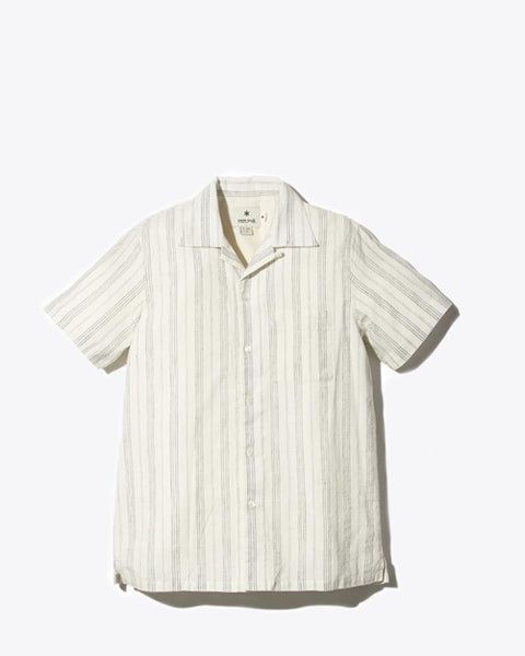 Cotton Linen Wide Striped Shirt