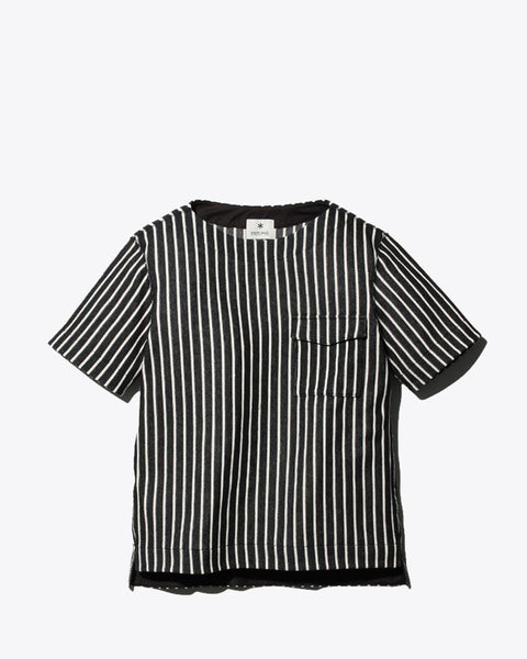 Cotton Linen Striped Tshirt