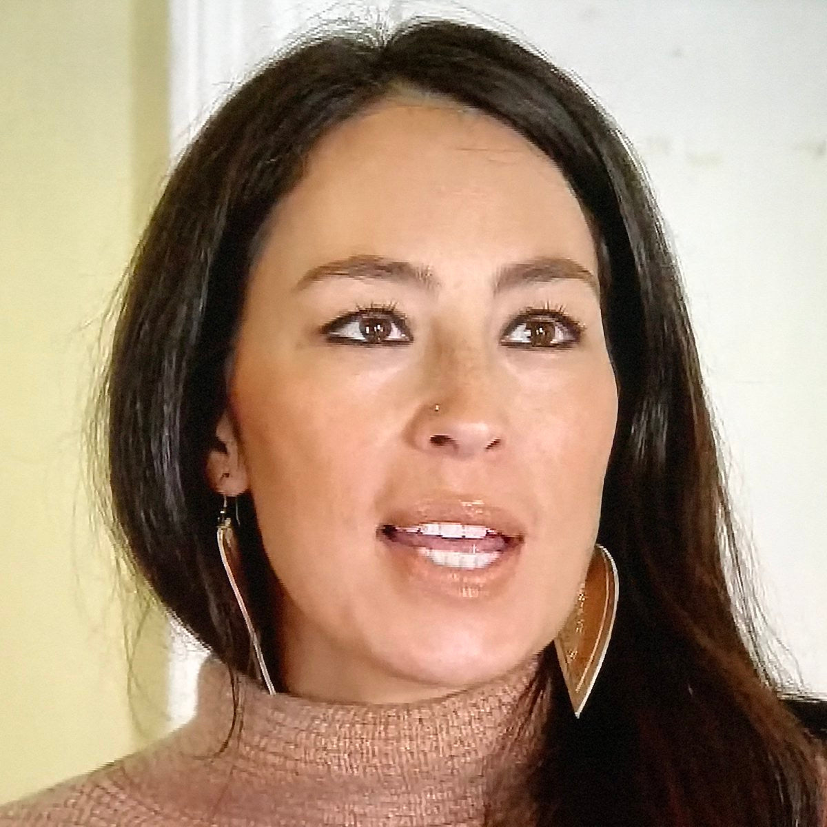Joanna Gaines Leather Teardrop Leaf Earrings Divine