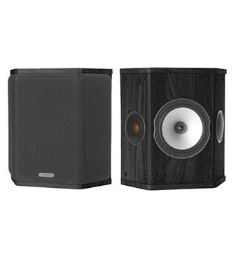 Black Monitor Audio BXFX Speakers - Audio Sound from Ambeince Systems Queenstown