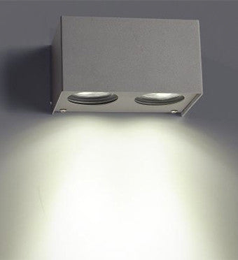 ASW0024 Wall Light Double Down Directional - Outdoor Lighting from Ambience Systems Queenstown