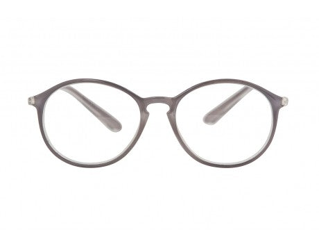 MINNA transparent soft grey reading glasses