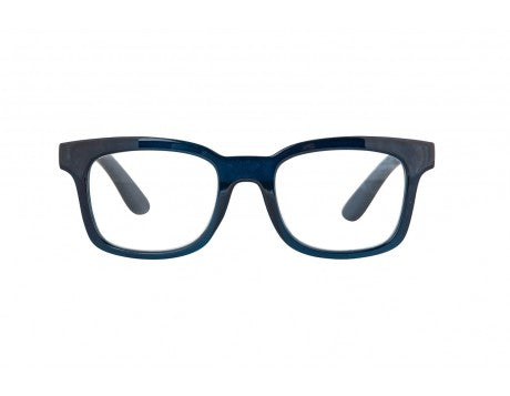 TOMINE transparent dark blue reading glasses