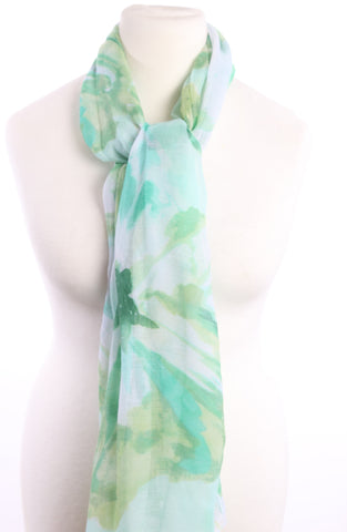 Mint green pattern scarf.