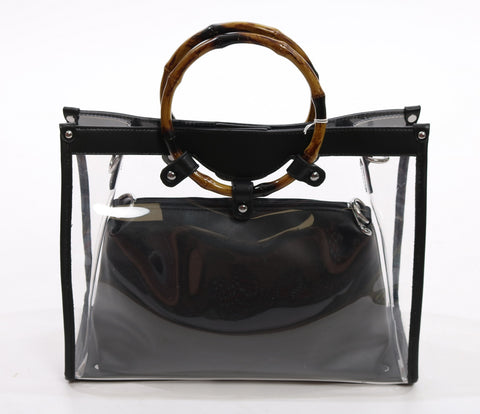 Black transparent bag