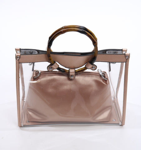 Gold transparent bag