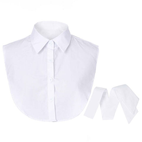 White bow mock collar