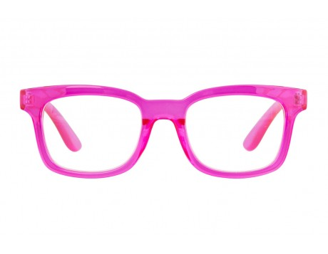 Cornelina transparent  cerise reading glasses