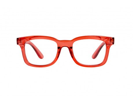 OTTO transparent coral reading glasses