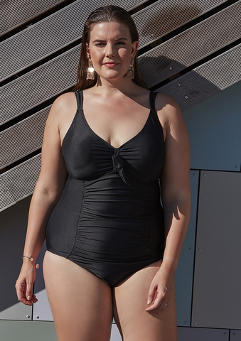 Zhenzi black swimsuit.