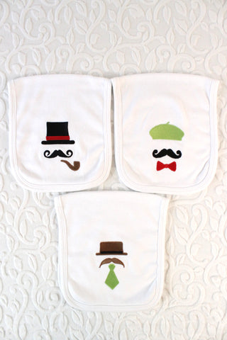 Fancy Man Burp Cloth Set