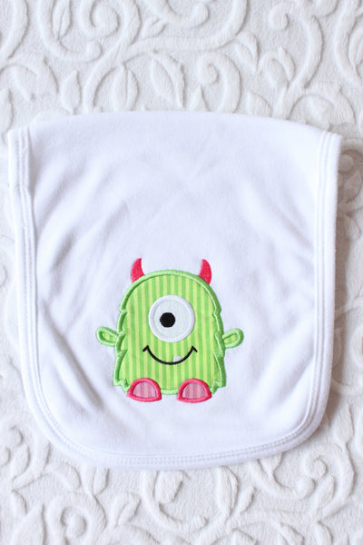 Olga the One-Eyed Monster Burp Cloth Set