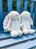 White Monogrammed Jellycat Bunny