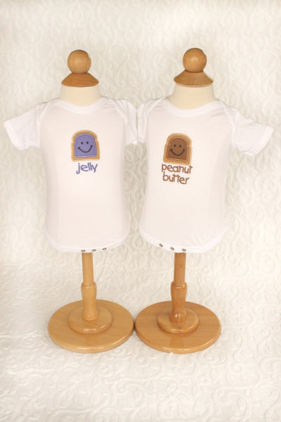 Peanut Butter & Jelly Onesies Set