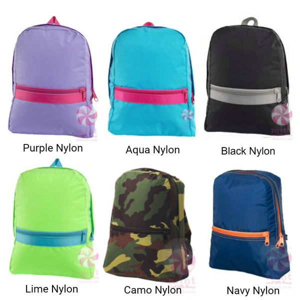 Personalized Small Nylon Backpack