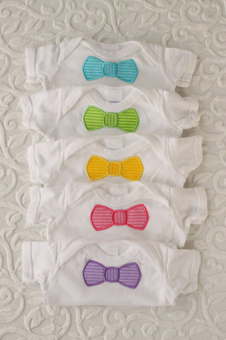 Stately in Stripes Bowtie Onesie