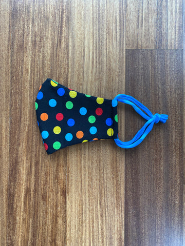 Rainbow Polka Dot Mask