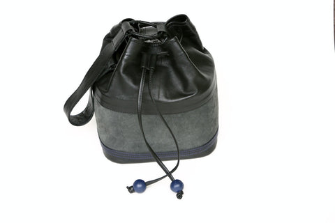 SUEDE & LEATHER BALI BUCKET BAG - KABILA