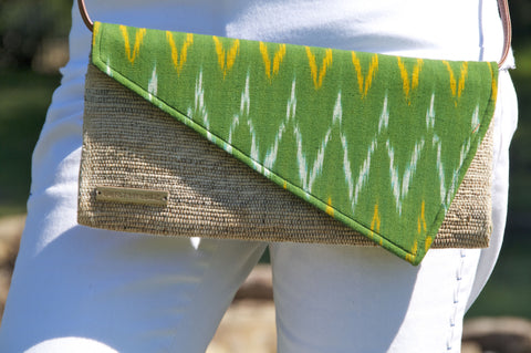 BANANA FIBER & IKAT CROSS BODY- TRAMA
