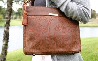 LEATHER SPIRAL BAG - KABILA