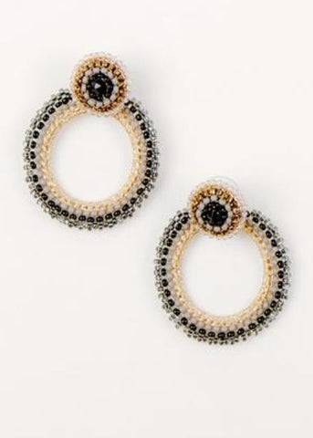 Beaded Hoop Ear Jackets