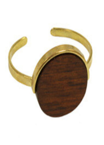 Wood Medallion Cuff