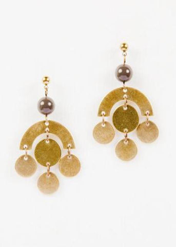Chandelier Disk Earrings