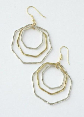 Layered Hexa Earrings