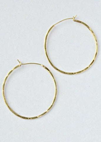 Textured Hoops- Gold