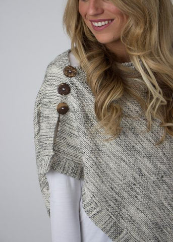Asymmetrical Poncho- Frosted