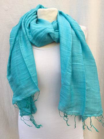 Cotton & Silk Blend Shawls- color options