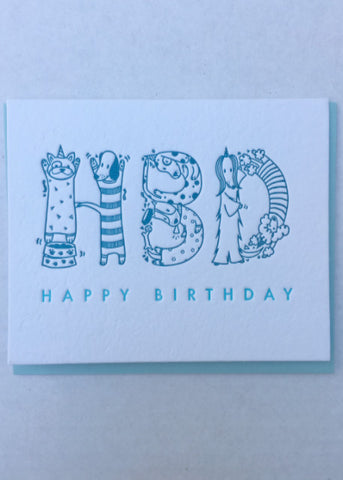 HBD Dogs Greeting Card