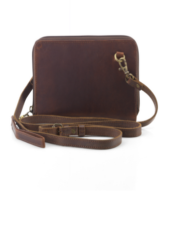 Kosha Convertible Wallet & Crossbody- Brown Leather