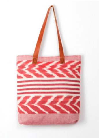 Jaspe Oversized Tote- Red
