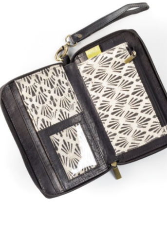 Kosha Convertible Wallet & Crossbody- Black Leather