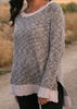 Honeycomb Knit Sweater- Mink