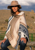 Reversible Button Scarf/Poncho- Winter Intarsia