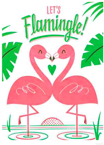 Let's Flamingle Greeting Card