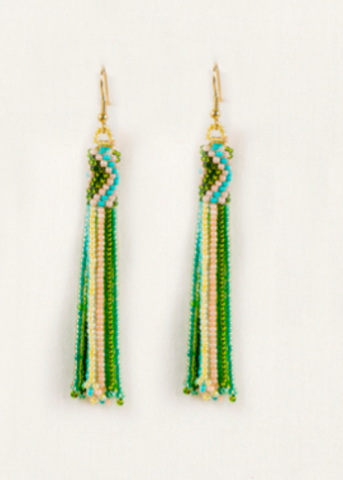 Long Fringe Earrings- Spring