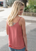 Lace Crinkle Tank