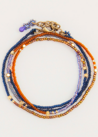 Wrap Bracelet- Denim